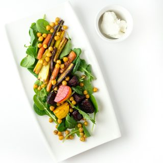 Beet, Carrot and Chickpea Salad