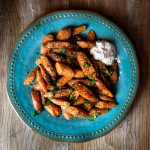 Za'atar Roasted Carrots with Labne.