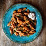 Za'atar Roasted Carrots with Labne.