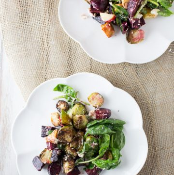 Roasted Vegetable Salad with Caper vinaigrette