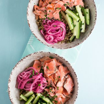 Salmon with Gingered Quinoa