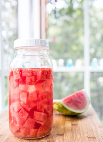 Watermelon infused tequila