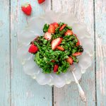 Grilled Kale Salad with Strawberries