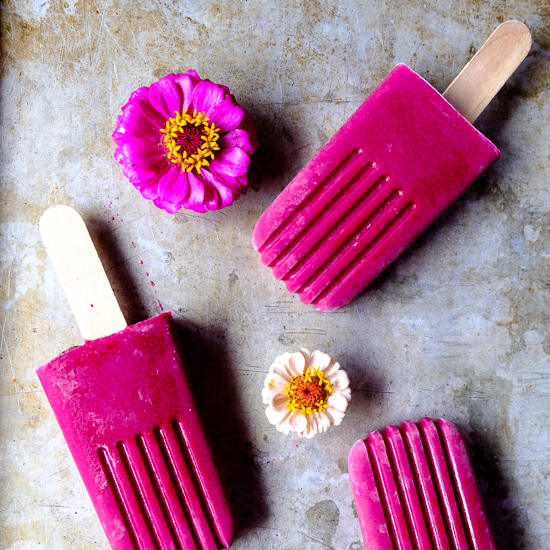 Strawberry Beet Smoothie Pops