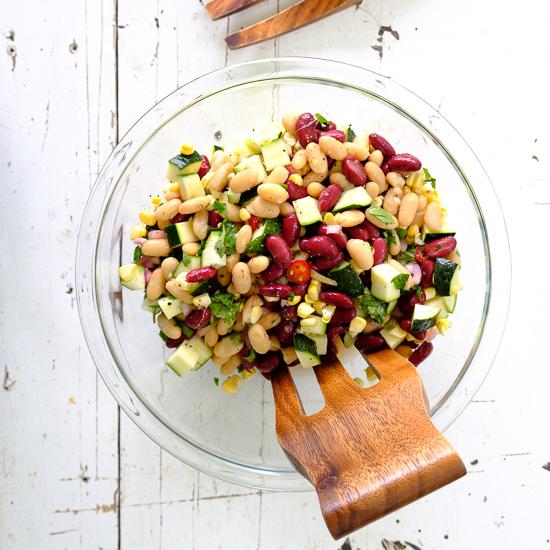 Zucchini, Corn and Bean Salad