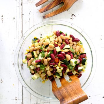 Zucchini, Corn and Bean Salad