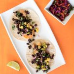 Shrimp Tacos with Mango and Black Bean Salsa