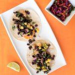 Shrimp Tacos with Mango and Black Bean Salsa
