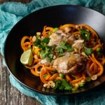 Miso Chicken with Sweet Potato Noodles