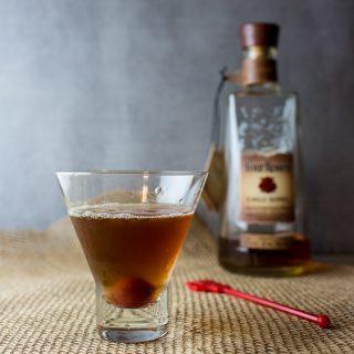Maple Manhattan - a fall twist on a classic bourbon cocktail