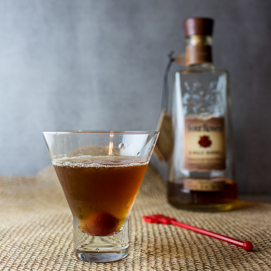Maple Manhattan a Fall Bourbon Cocktail
