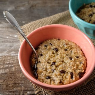 Instant Pot Steel Cut Oats with Maple Syrup