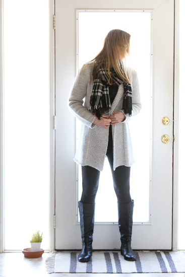 Winter Capsule Wardrobe The Gray Cardigan