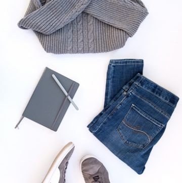 Outfit of the day featuring gray puma suede women's