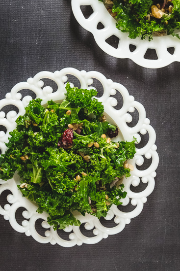 Kale Salad with Whole Grains