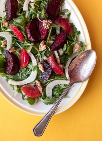 Superfood salad with beets and blood oranges