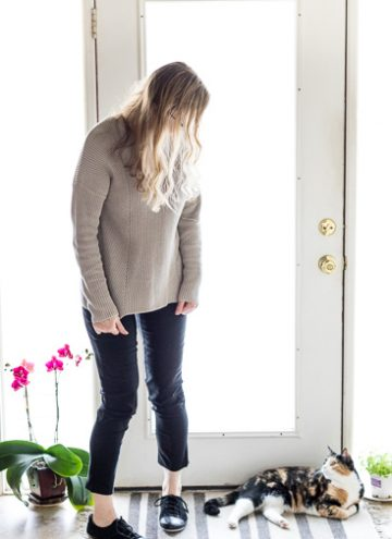 Minimalist French Wardrobe A Neutral Sweater