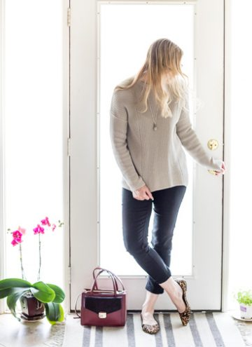 Neutral Sweater Restyled Slightly Dressy