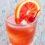 Bright orange cocktail