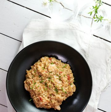 Instant Pot Shrimp Risotto