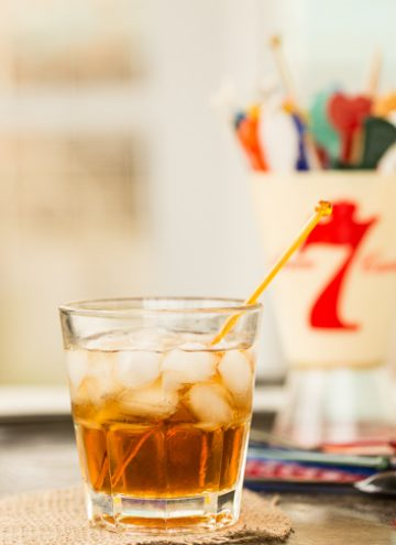 Easy Black Russian Cocktail