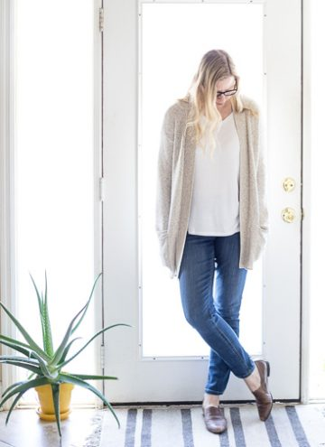 Spring Layering Cotton Cardigan
