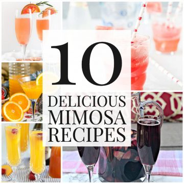 Collage of mimosa recipes.