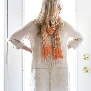 Ivory linen tunic