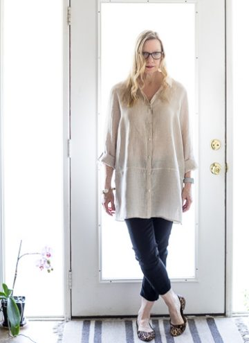 Linen Tunic with Black Pants