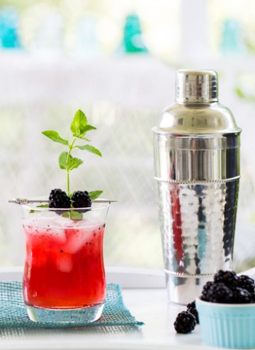 Blackberry ginger fizz
