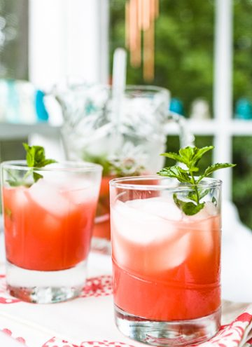 Campari Cocktail with Ruby Grapefruit Juice