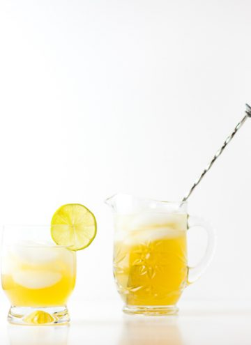 Gin and Ginger Ale Cocktail