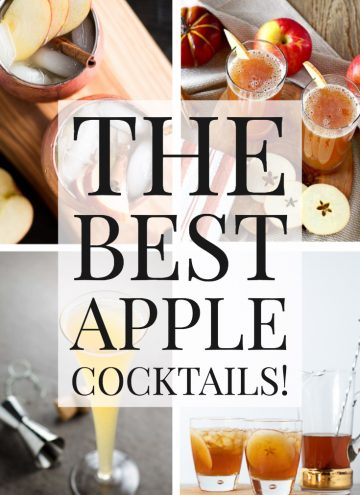 Collage of apple cocktails