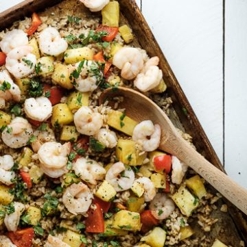 Sheet Pan Shrimp with Pineapple