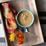 Tray of Instant Pot Pumpkin Pie Steel Cut Oats