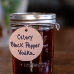 Jar of Celery Black Pepper Vodka