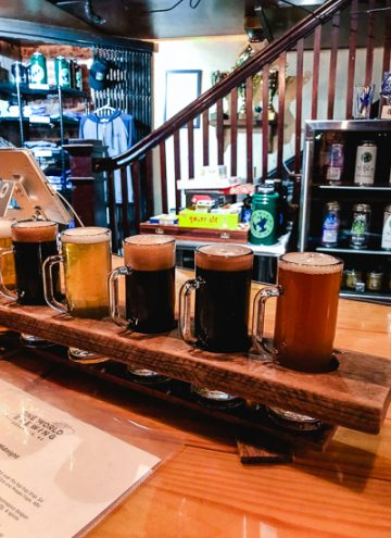 Beer Flight from One World Brewing