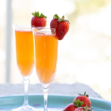 Strawberry Ginger Bellini