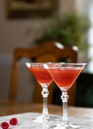 Vanilla Raspberry martini