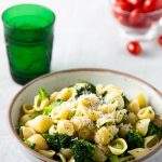 Bowl of pasta with broccoli
