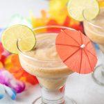 Banana daiquiri in a cocktail glass.