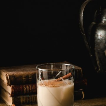 Glass of homemade RumChata