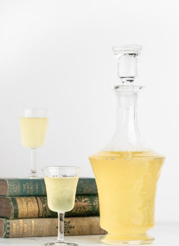 Limoncello with a glass.