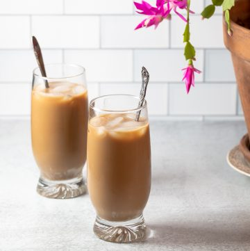 Two glasses of boozy Vietnamese Iced Coffee.