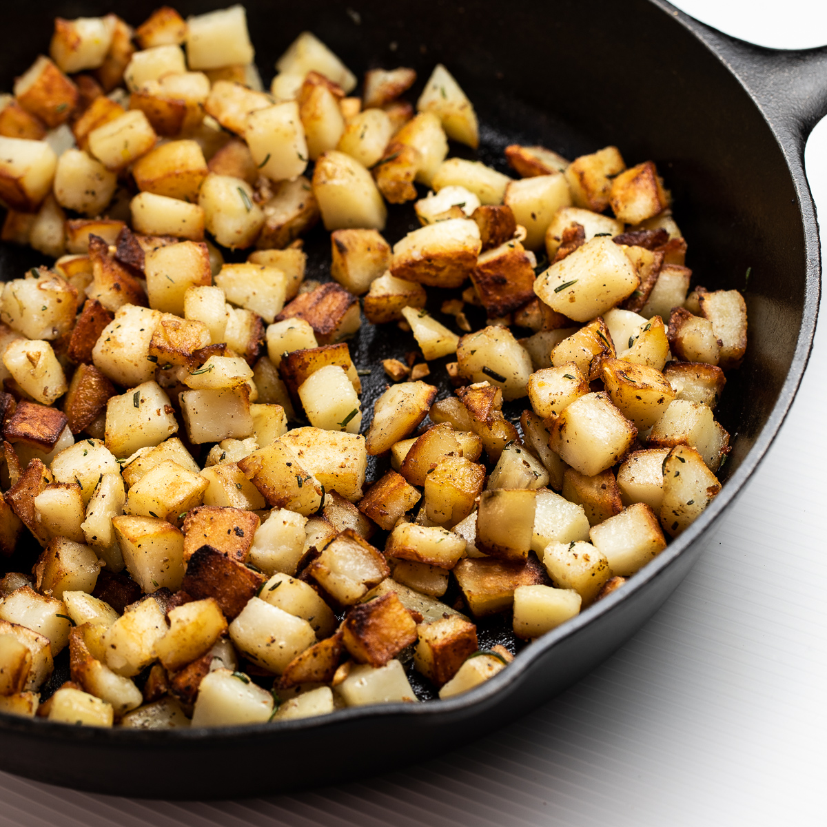 Crispy Skillet Fried Potatoes Sidewalk Shoes