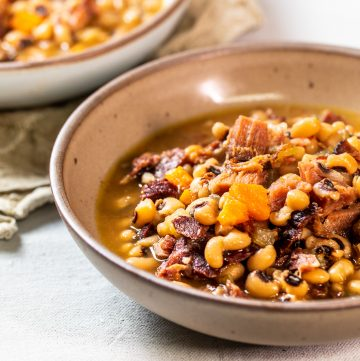 Bowl of Black Eyed Peas.