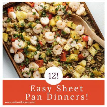 Photo of a sheet pan dinner.
