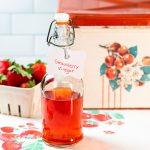 Bottle of strawberry vinegar.
