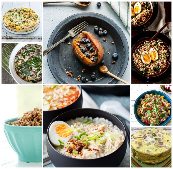 Photo collage of different recipes.