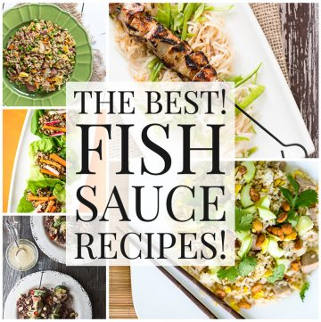 Photo collage of recipes with text reading The Best Fish Sauce Recipes